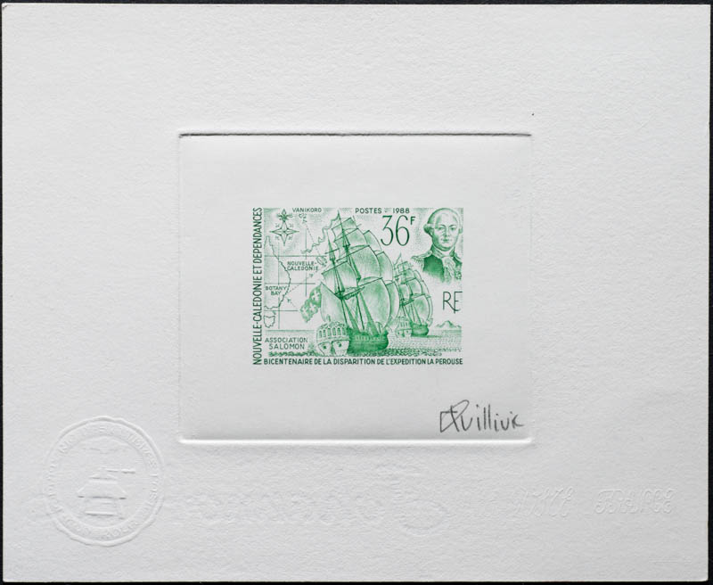 New Caledonia artist's proof stamp